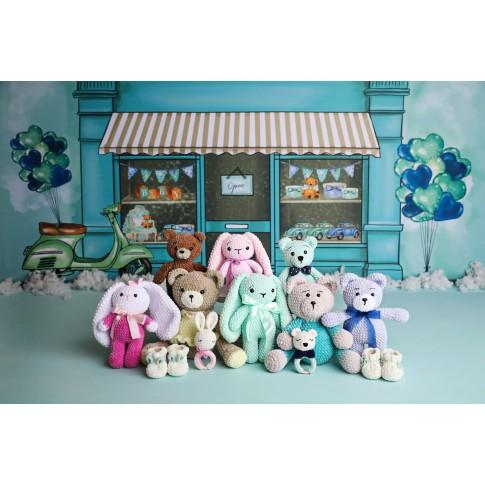Ursulet in pijamale-turcoaz