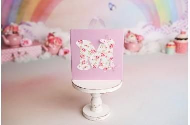 Tablou litera M cu flori